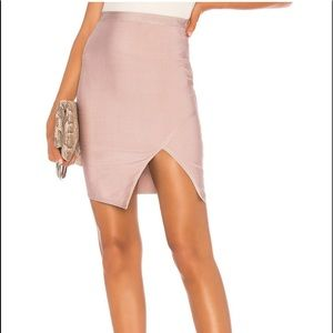 About Us Alexa Bandage Skirt in Mauve Pink